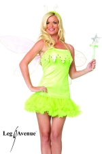 Costume sexy Elfe - Costume d'Elfe : robe � jupon, baguette magique et serre-t�te.