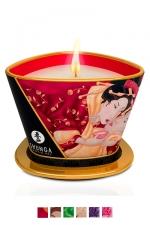 Bougie de massage Shunga (170 ml) - Ce produit unique sert � la fois de chandelle pour cr�er une ambiance parfum�e ainsi qu'une huile � massage.